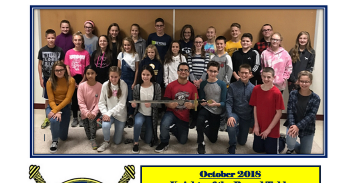 2018-2019 EYMS Knights of the Roundtable