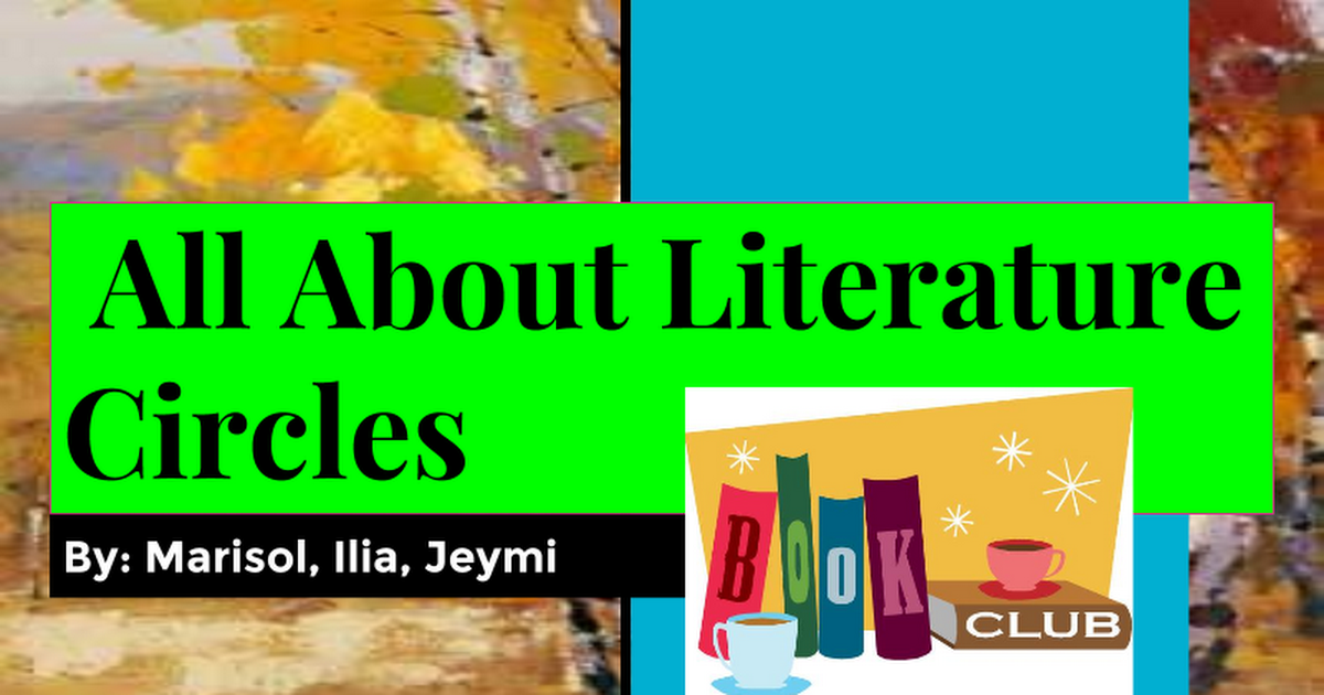 All About Literature Circles