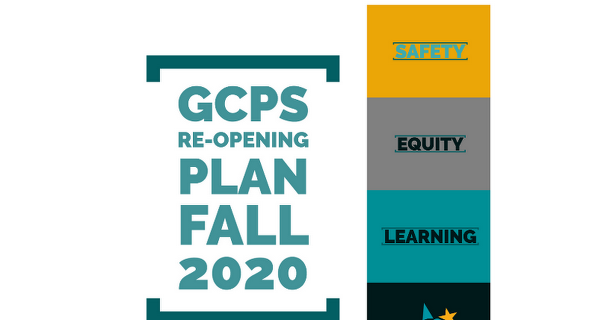 For Publishing Online GCPS Re-Opening Plan for Parents