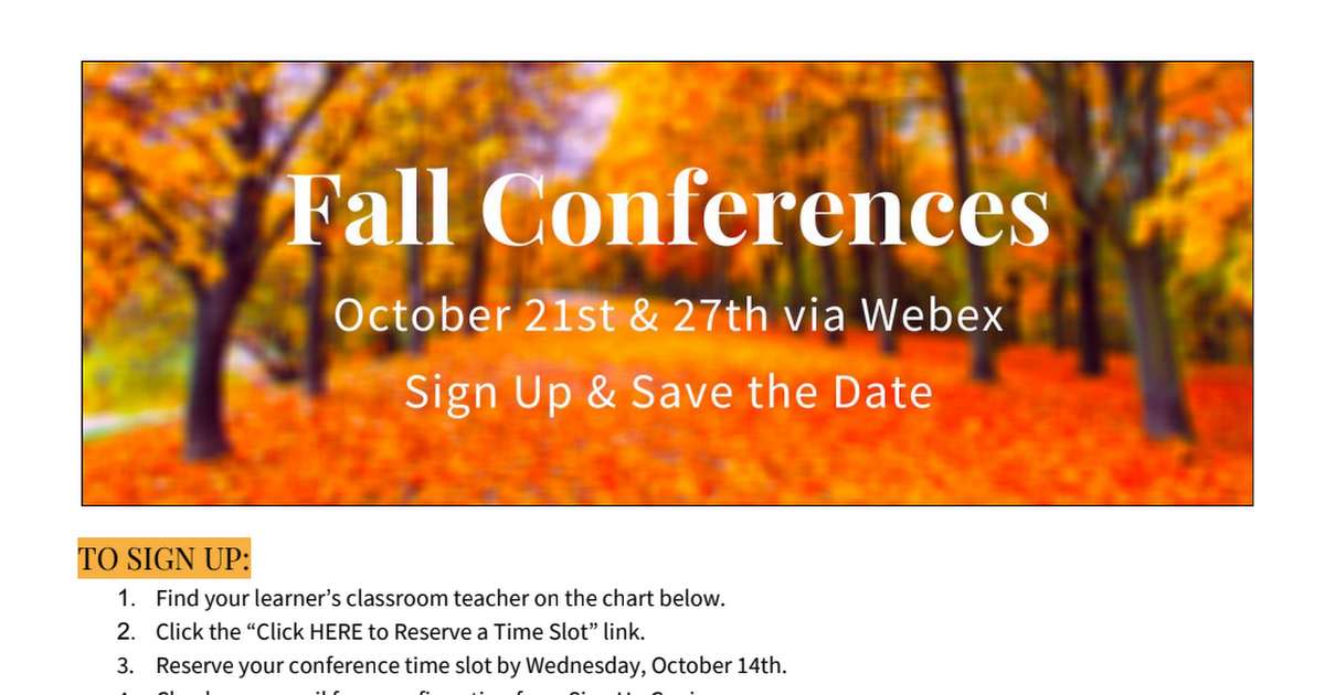 Fall Conference Sign Up for Families - Prairie 20-21.pdf
