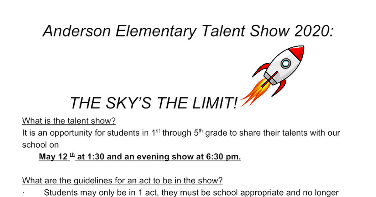 Talent Show 2020May