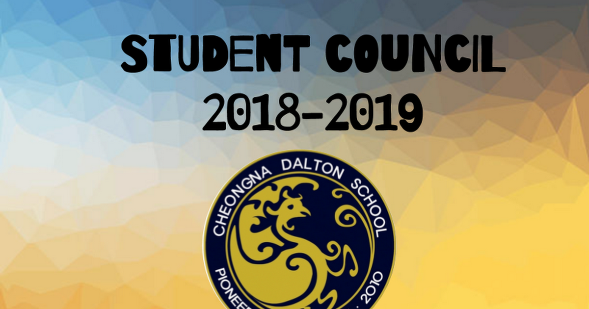 Student Council Introduction 2018-19