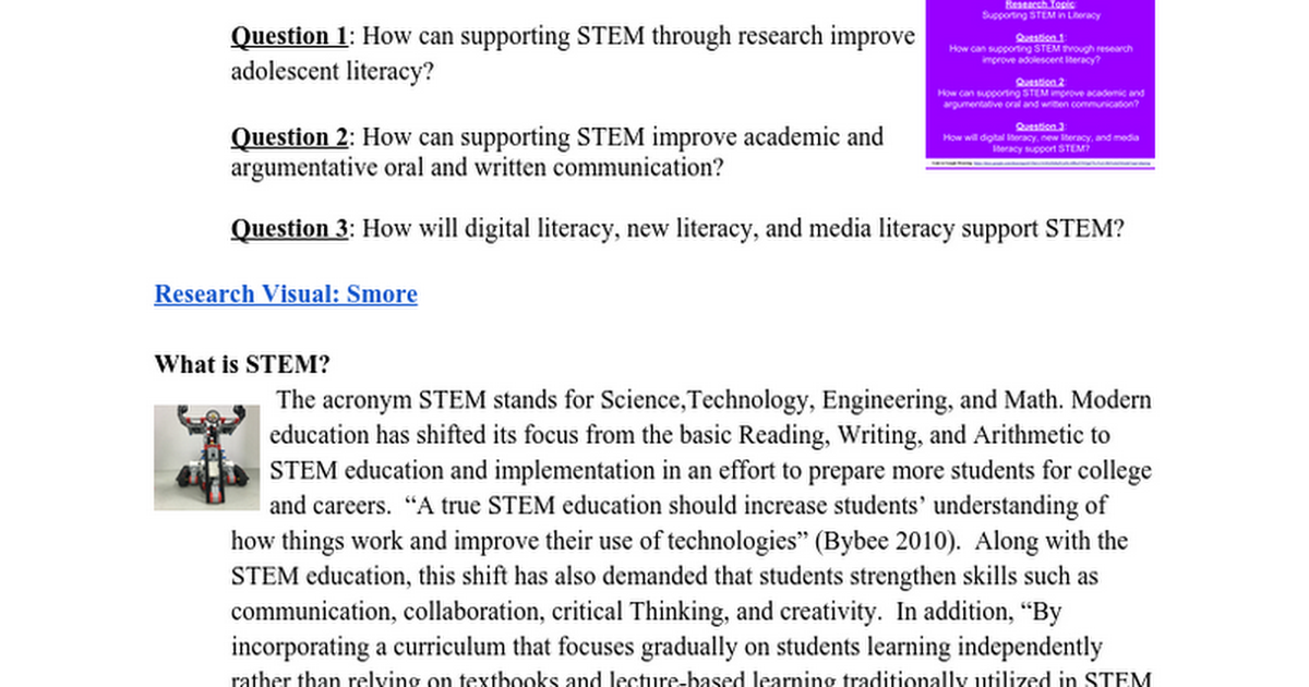RDG 534.501: Research Visual-Literacy and SS Support STEAM (Sprilng 2016) [Monique D. Boone]