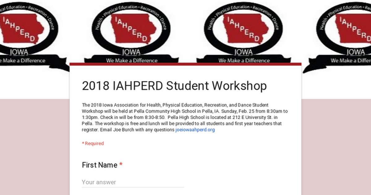 2018 IAHPERD Student Workshop
