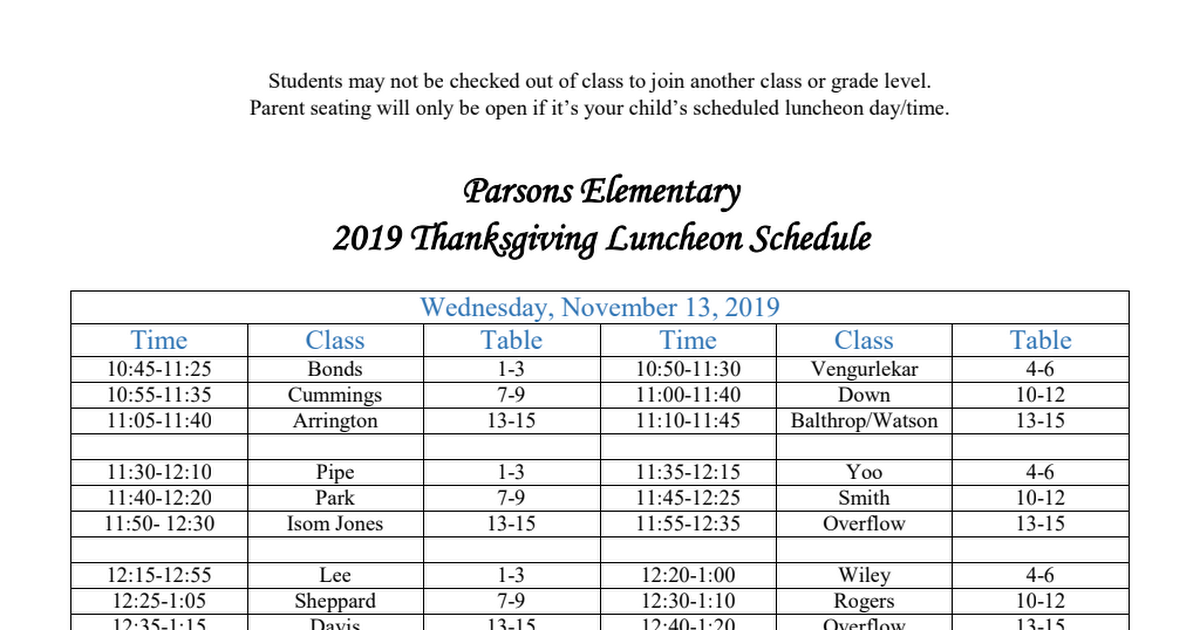 Thanksgiving Lunch Schedule.pdf