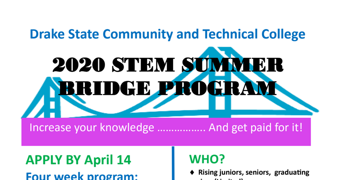 2020 STEM Summer Bridge Application Packet.pdf