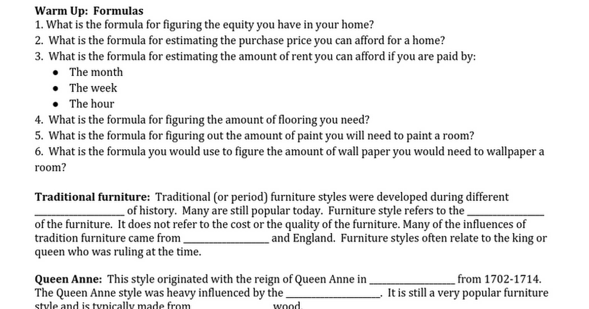 5.01 Housing I Furniture Styles Student Handout.docx