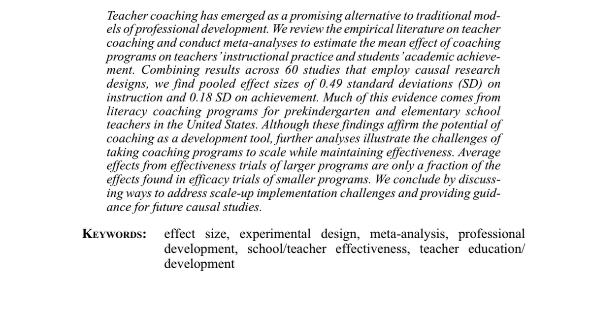 Effect of Teacher Coaching on Instruction and Achievement AERA.pdf