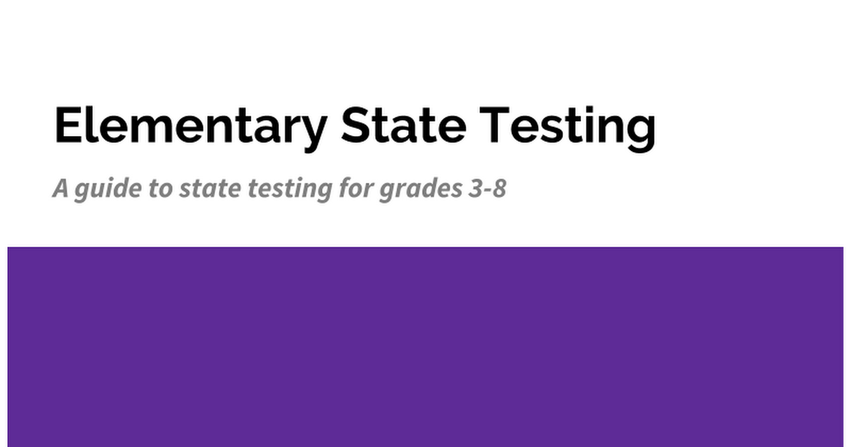 State Testing Slide Show - 2-14-18