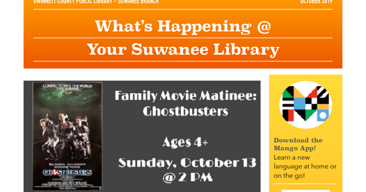 Suwanee Library Events October 2019.pdf