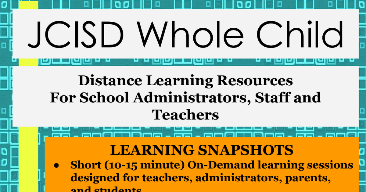 Distance Learning Resources For School Administrators, Staff and Teachers.pdf