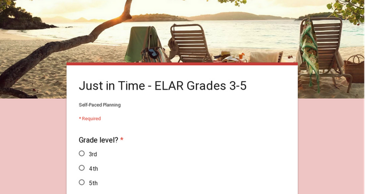 Just in Time - ELAR Grades 3-5