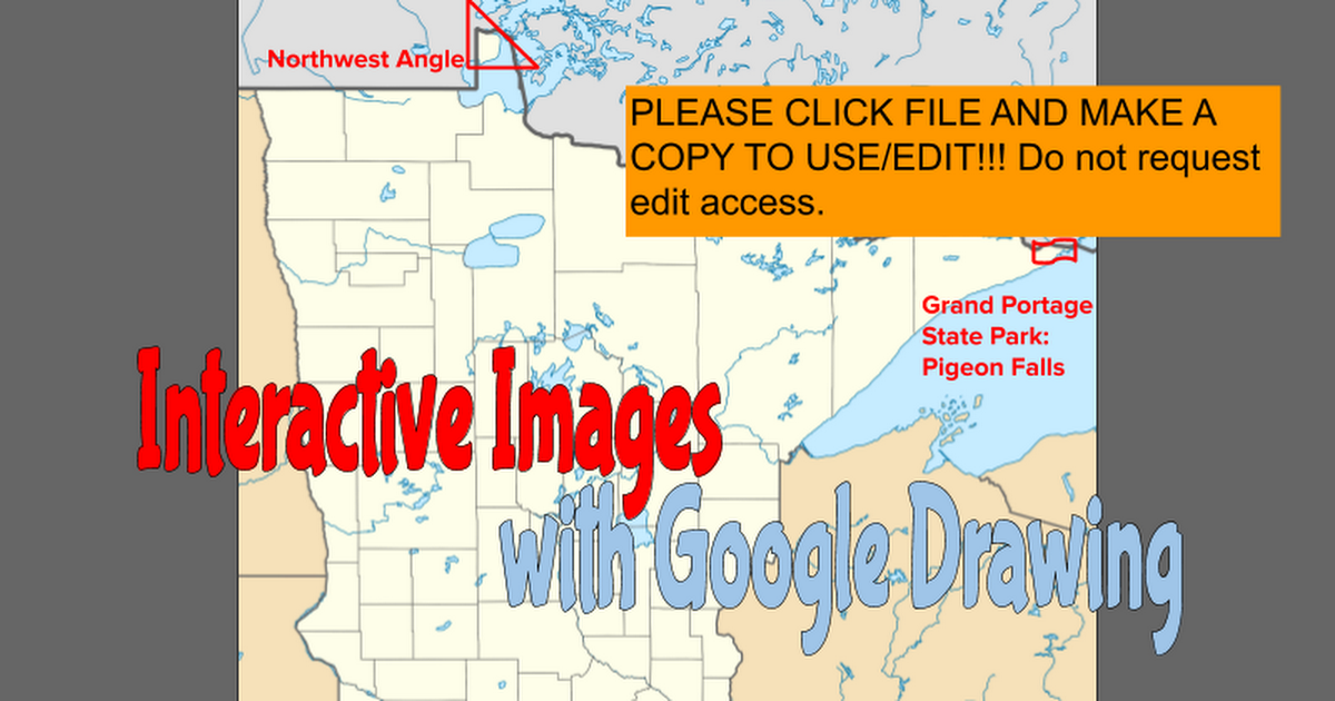 Interactive Images with Google Drawing
