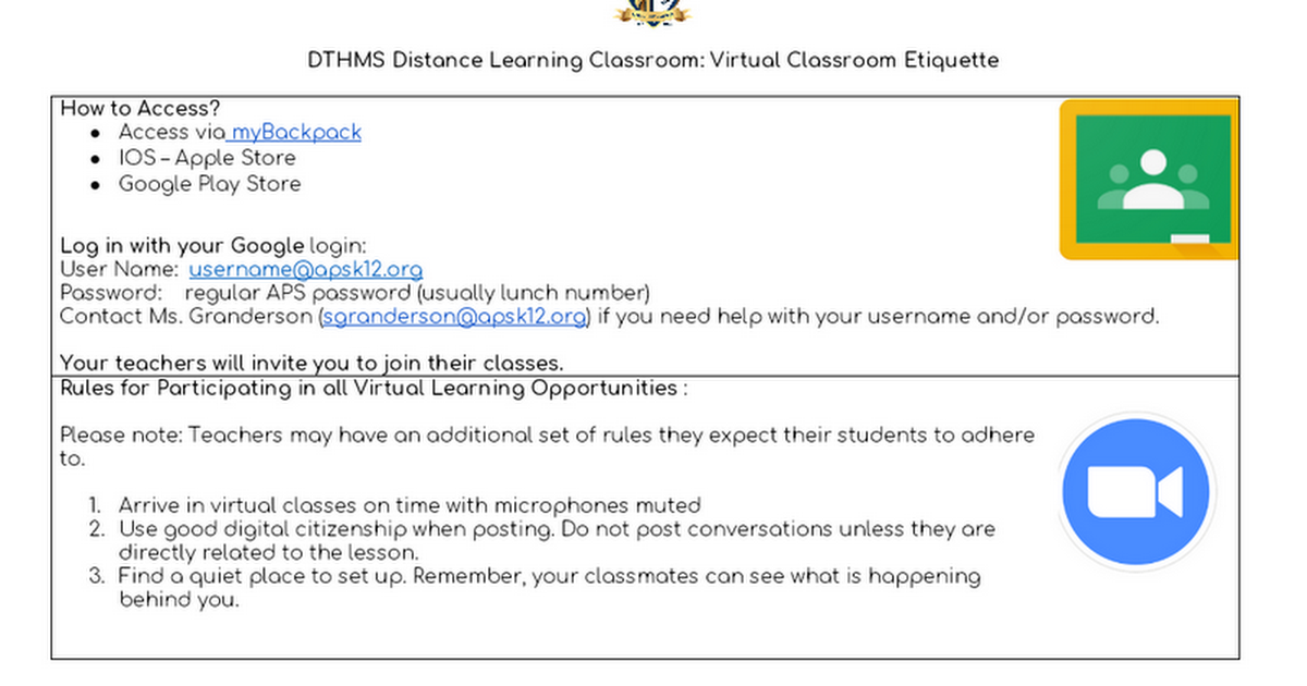 IMS Student Distance Learning Plan