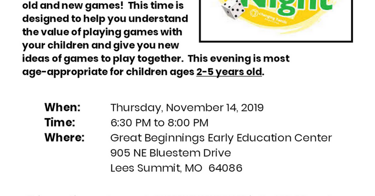 Game Night 11/14/19