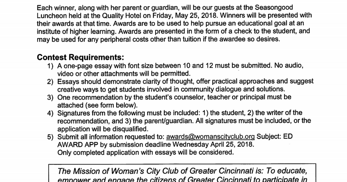 Women's City Club of Greater Cincinnati Scholarship.pdf