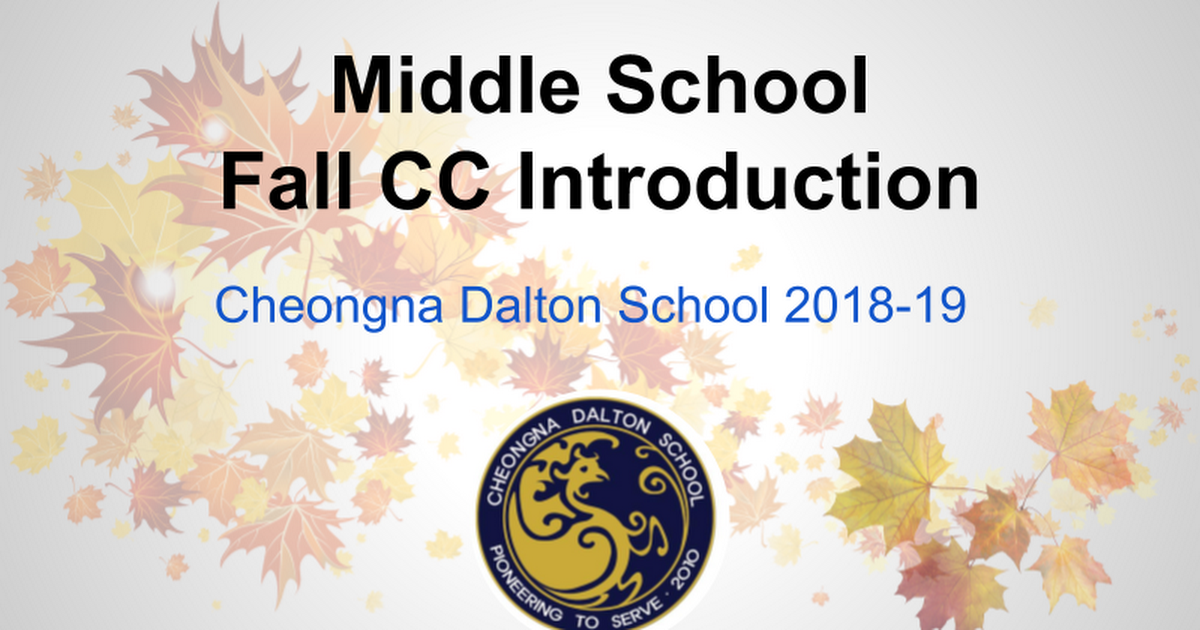 MS Fall CC Introduction 2018-19_Newsletter Version