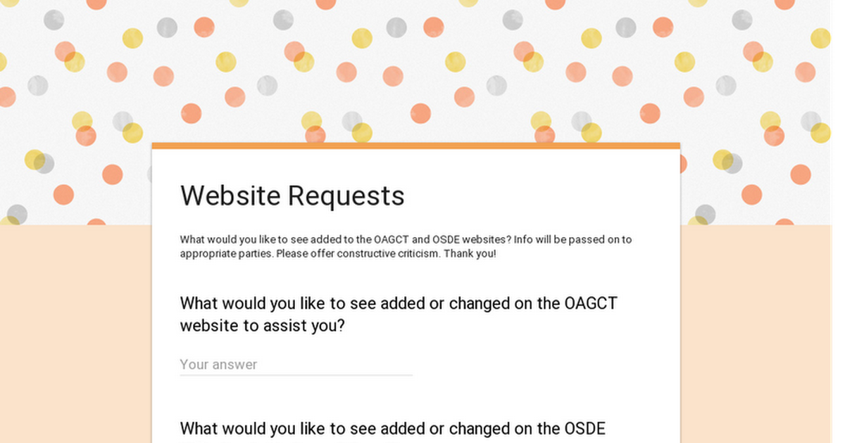 Website Requests