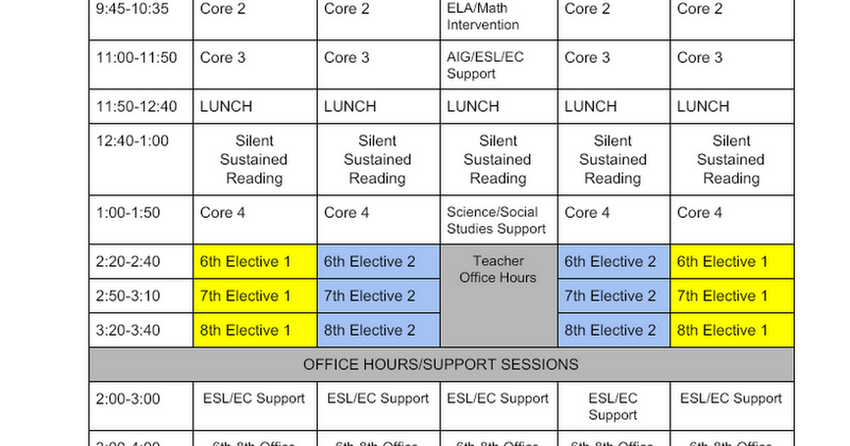 Plan C-NGMS Remote Learning Schedule 20-21