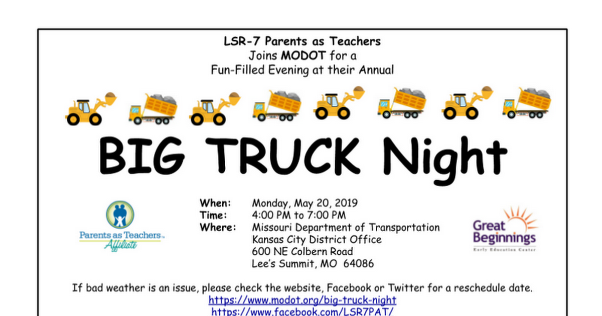 BIG Truck Night Flyer