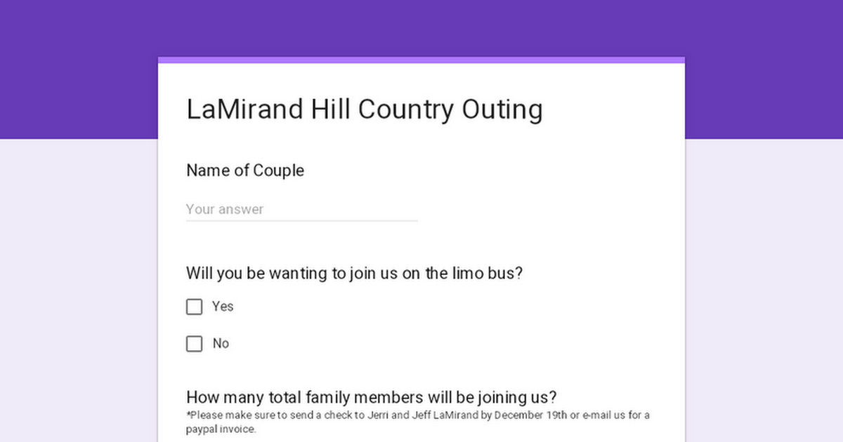 LaMirand Hill Country Outing