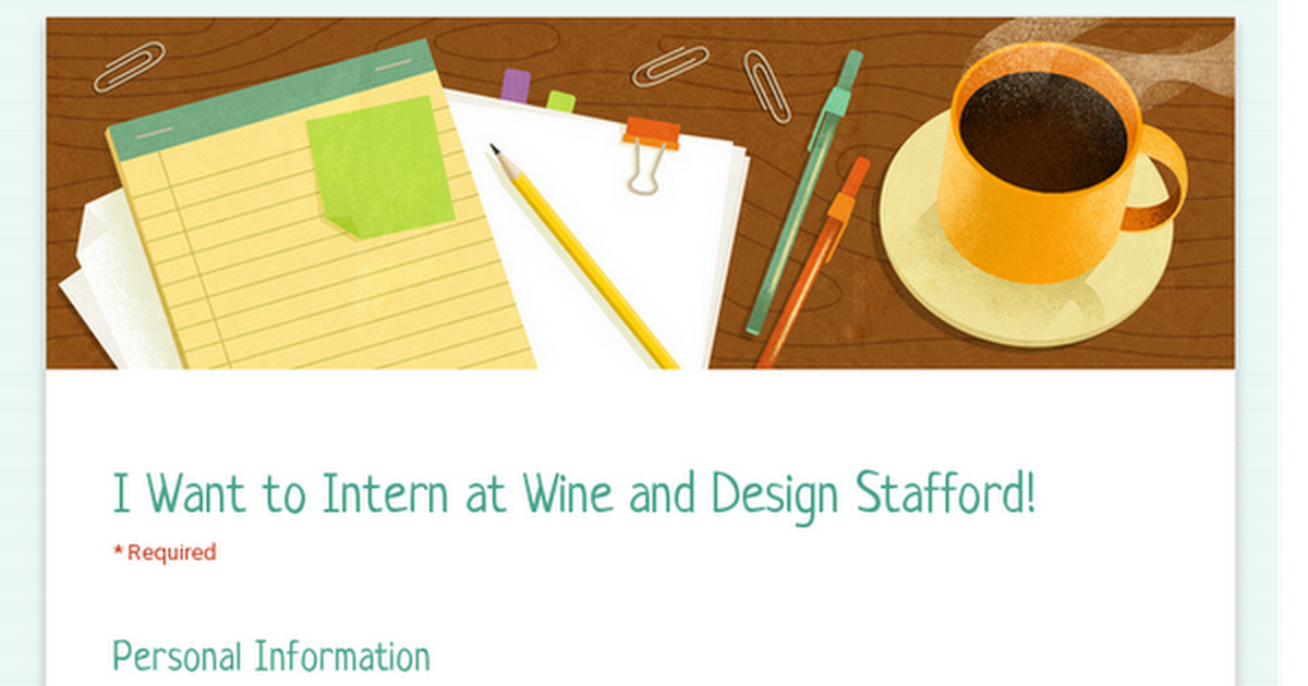 I Want to Intern at Wine and Design Stafford!