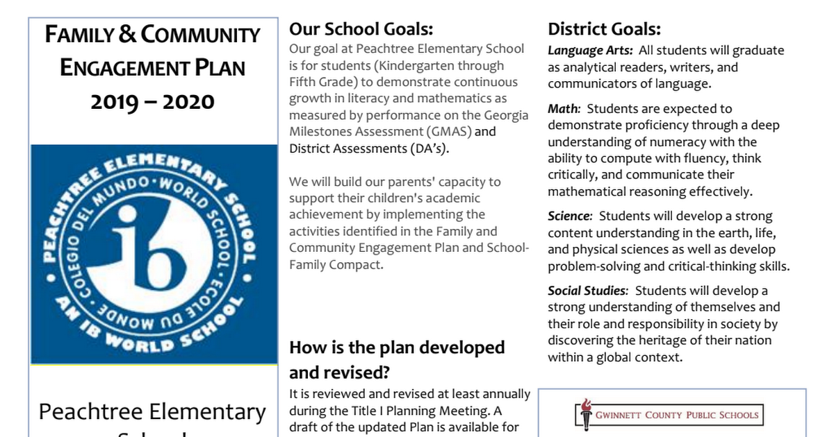 APPROVED - 8.8.19 - Peachtree ES - Family and Community Engagement Plan.pdf