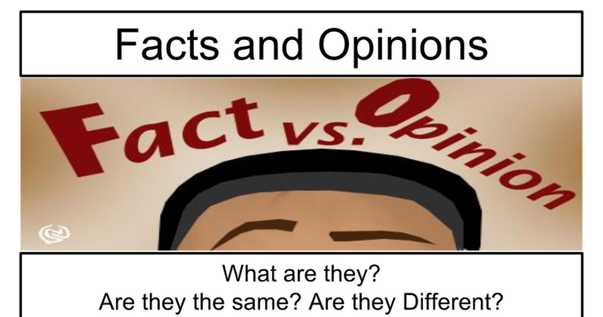 What is an Opinion?