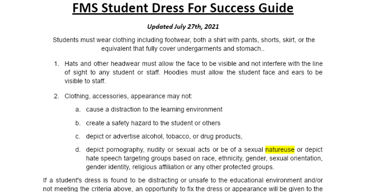 Student Dress and Appearance.docx