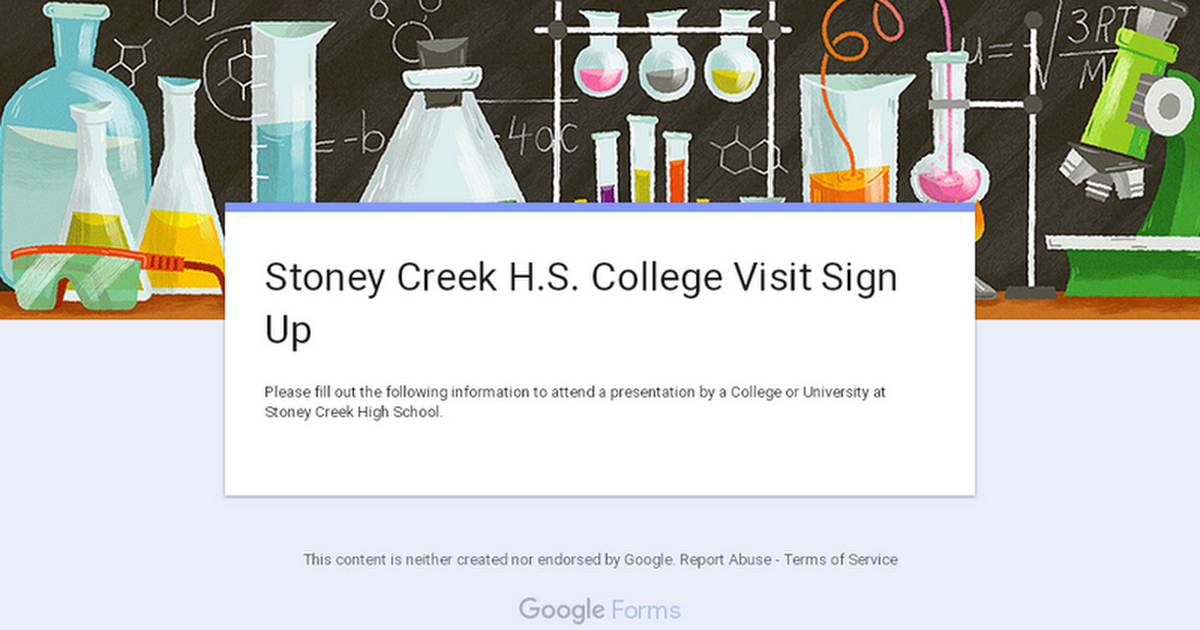 Stoney Creek H.S. College Visit Sign Up