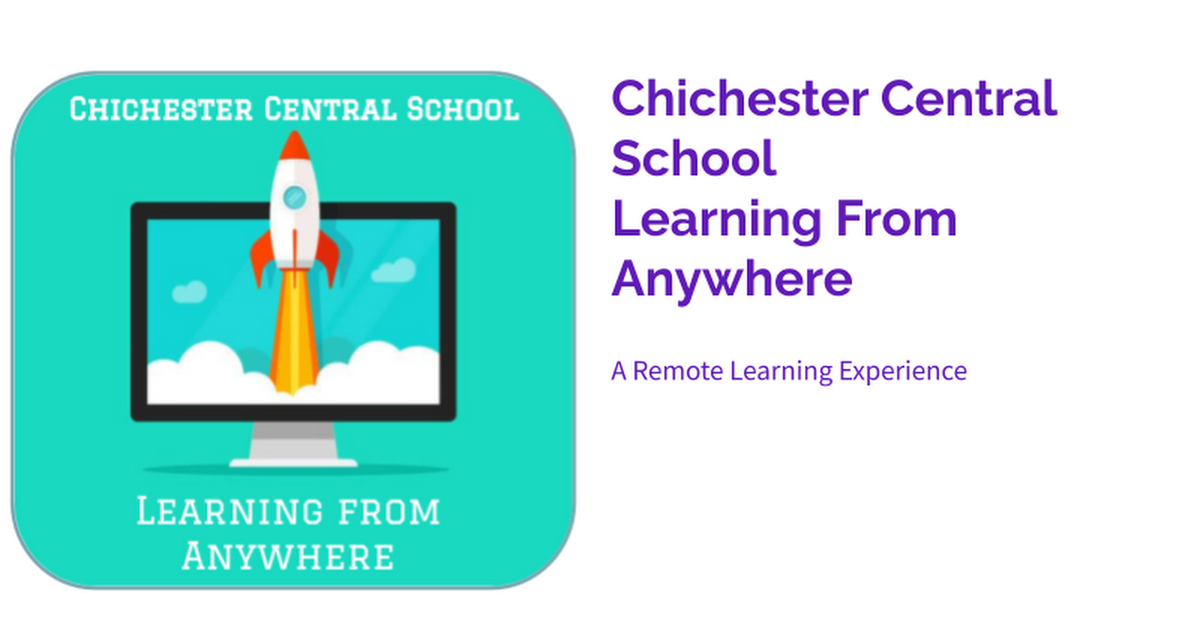Chichester Central School  Learning From Anywhere
