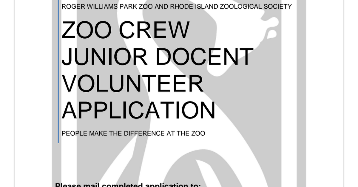 Zoo Crew Junior Docent Application 2019.pdf