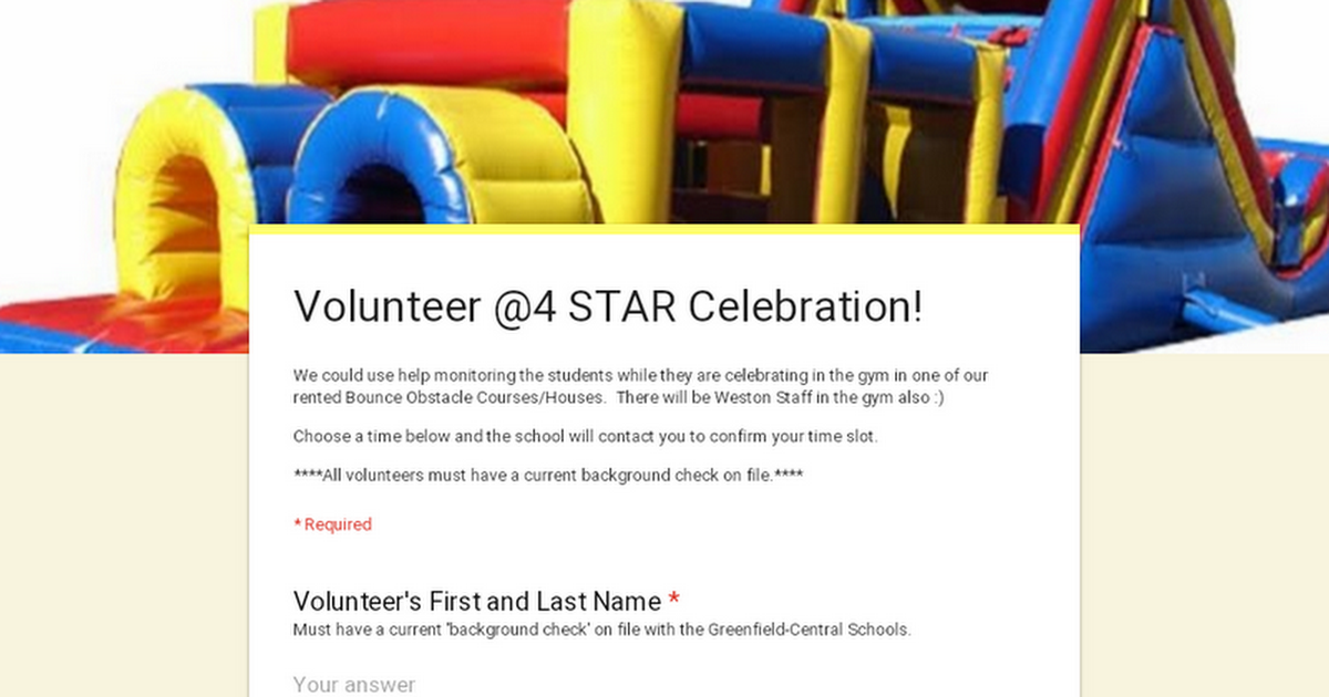 Volunteer @4 STAR Celebration!
