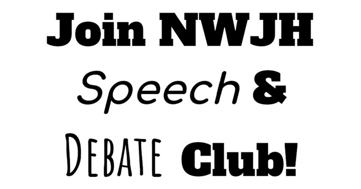 JH Speech and Debate Flyer