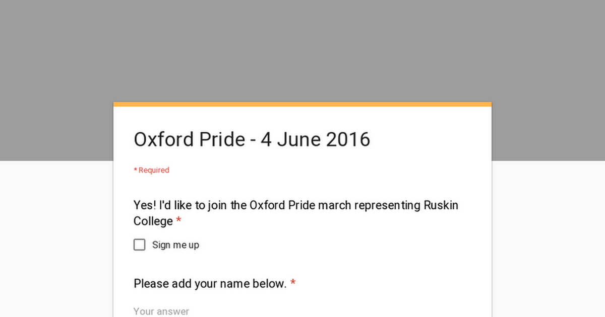 Oxford Pride - 4 June 2016