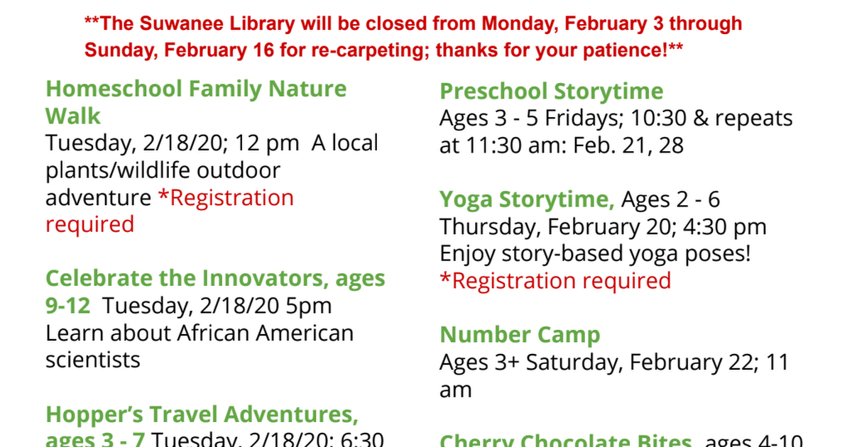 Suwanee Library February Events for Kids.pdf