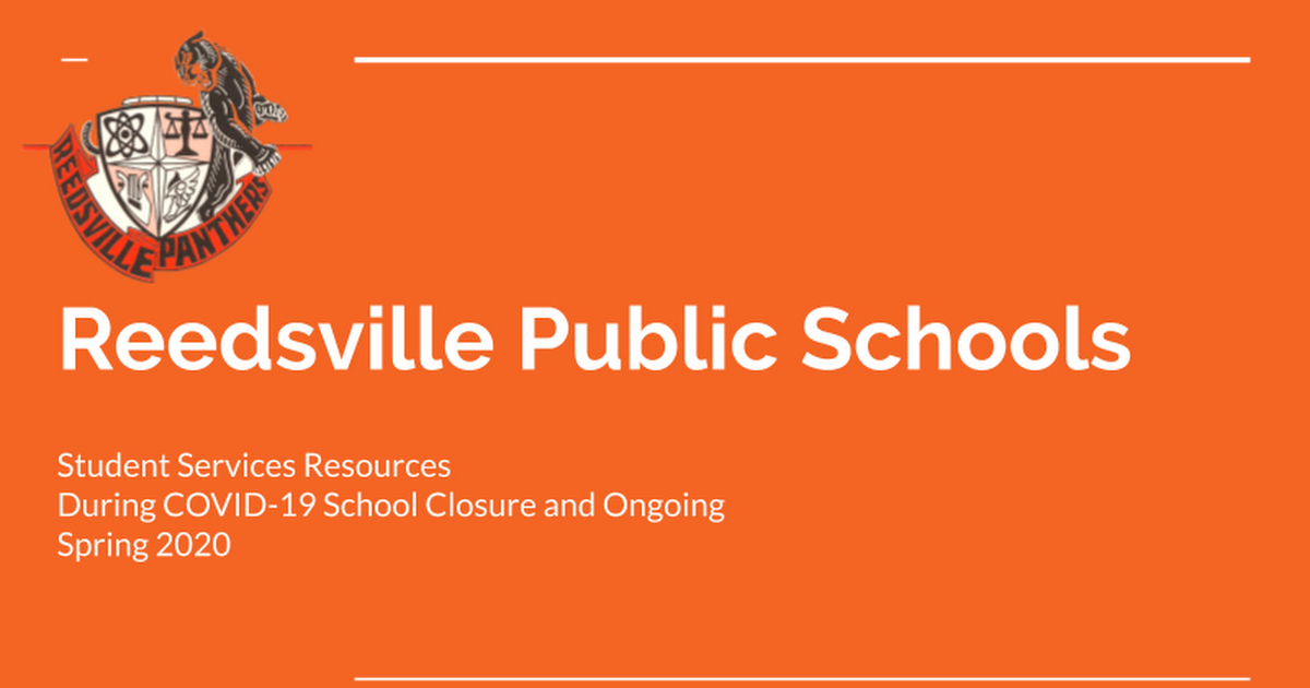 Reedsville Public Schools - Counseling Resources