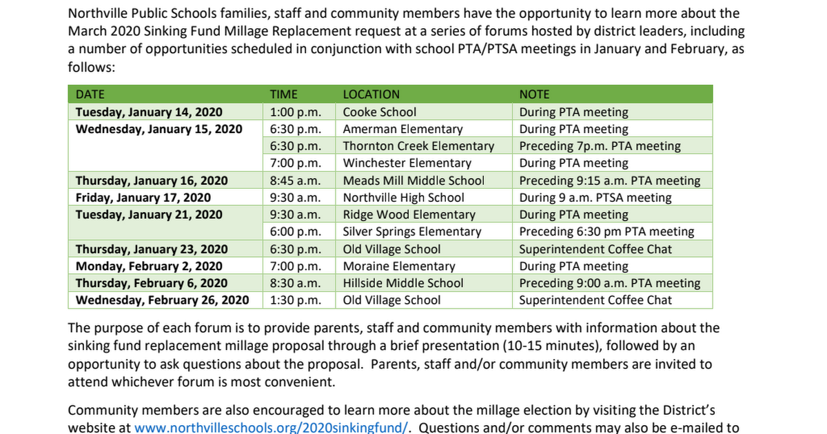 2020 Sinking Fund Replacement Millage Proposal Community Forums.pdf