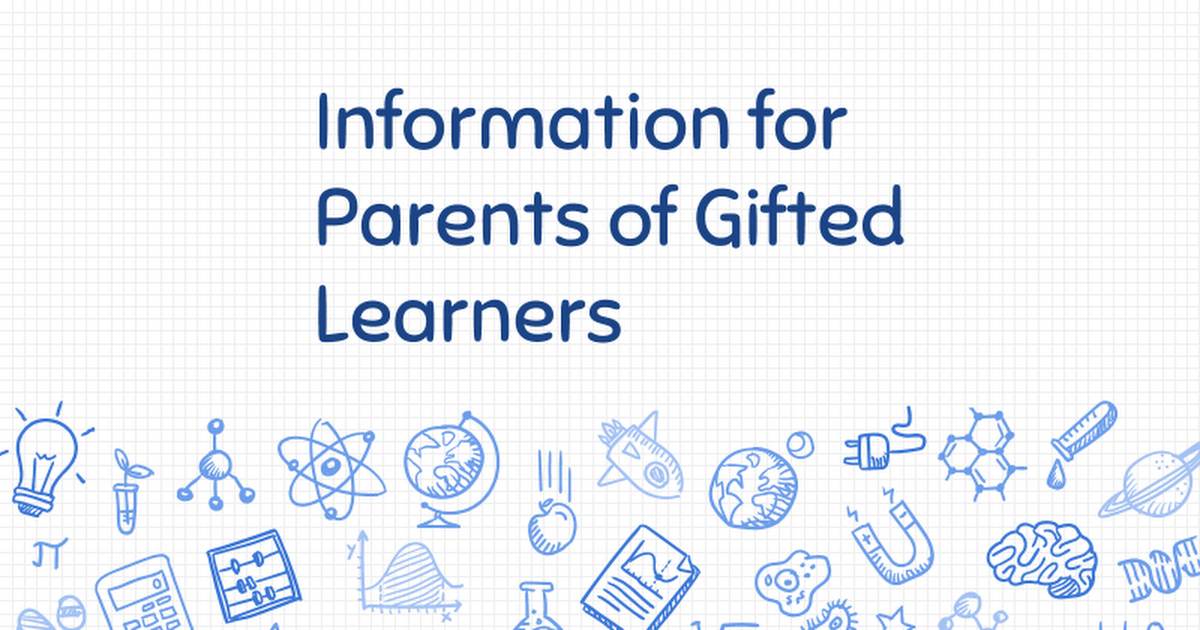 Gifted parent information FY 2018