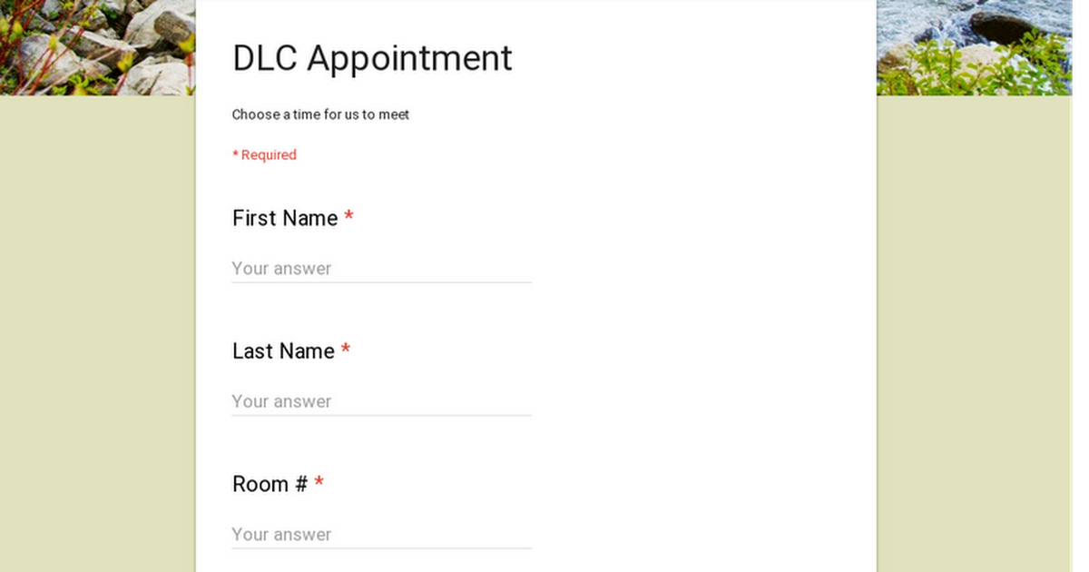 DLC Appointment