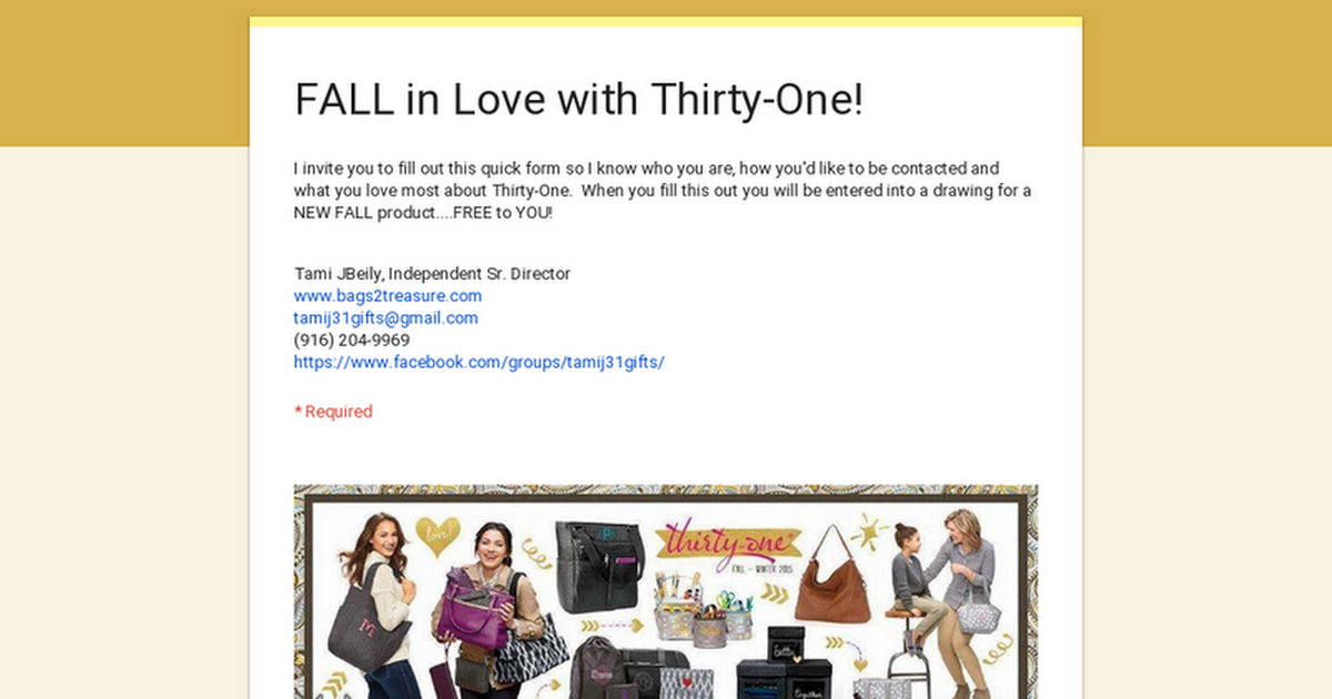 FALL in Love with Thirty-One!