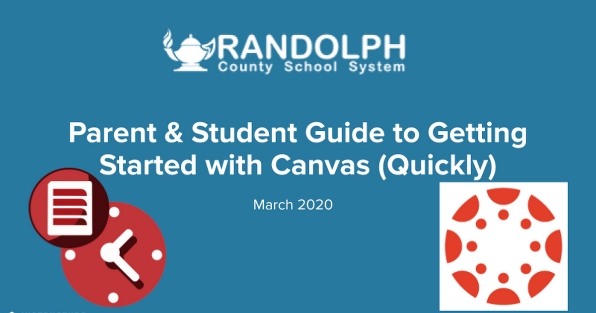 Parent & Student Guide to Getting Started with Canvas (Quickly)