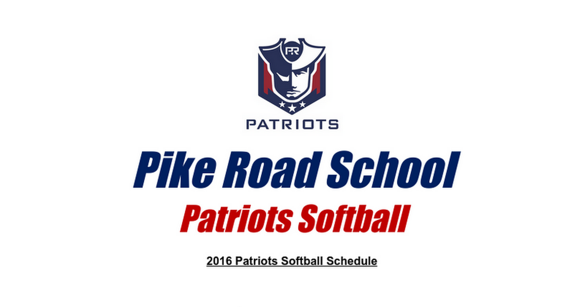 Pike Road 2016 Spring Softball