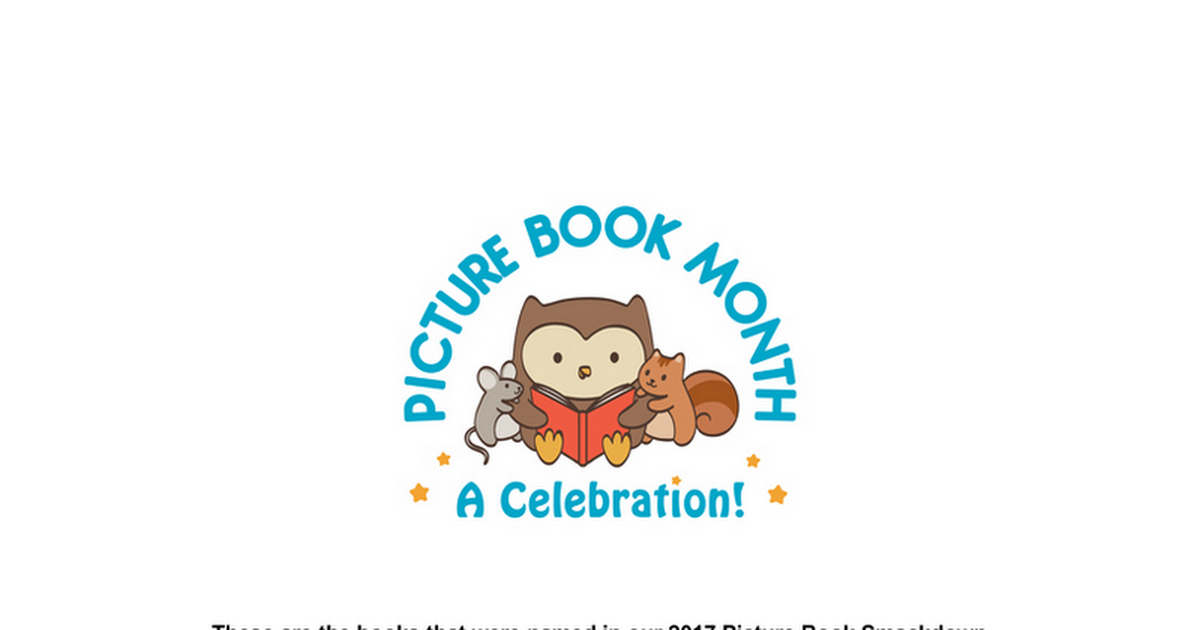 2017 Picture Book Smackdown Titles