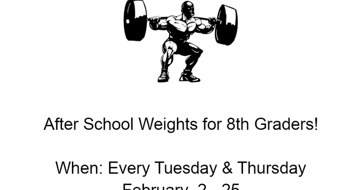 8th Grade Weights