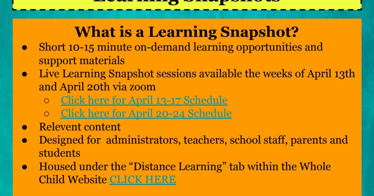 STAFF INFO on Whole Child Learning Snapshots Revised.pdf