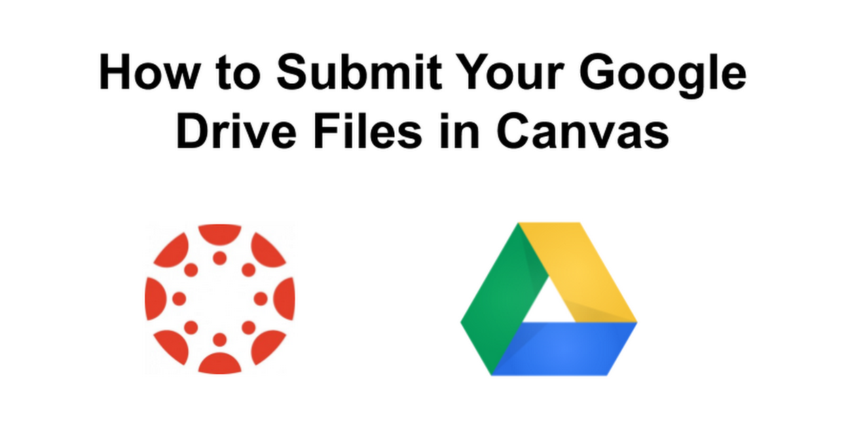 How to Submit Your Google Drive Files in Canvas (for students)