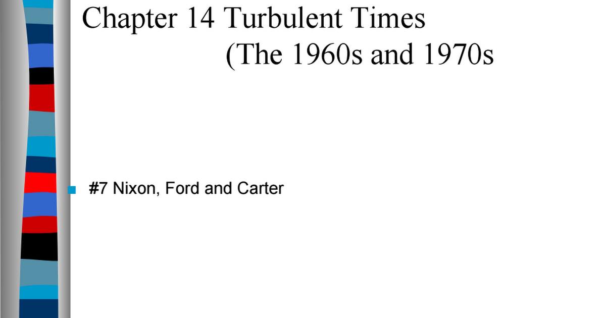 Nixon, Ford, & Carter.ppt