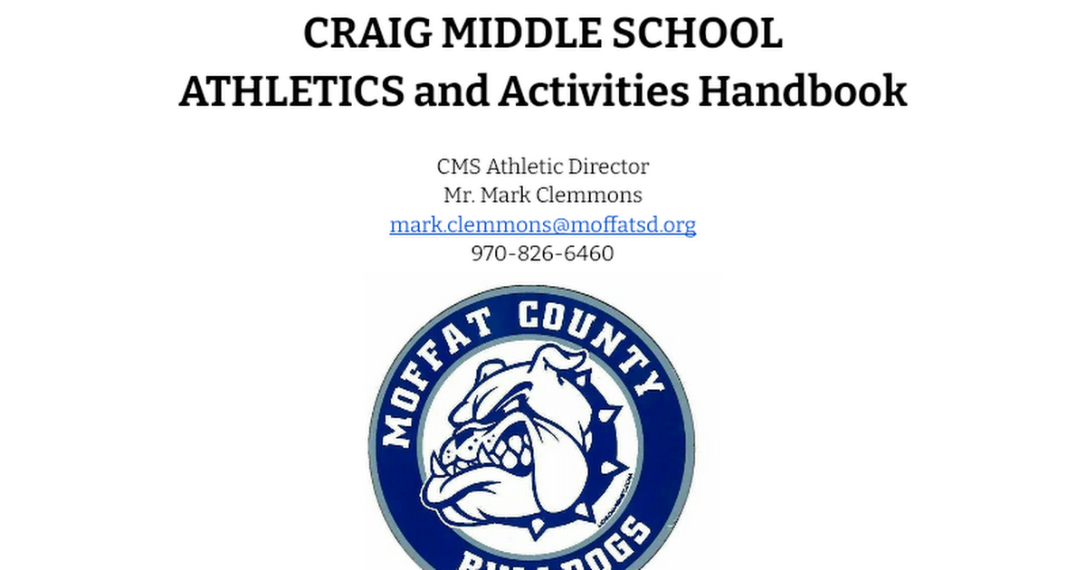 CMS Student Athletic Handbook 17-18