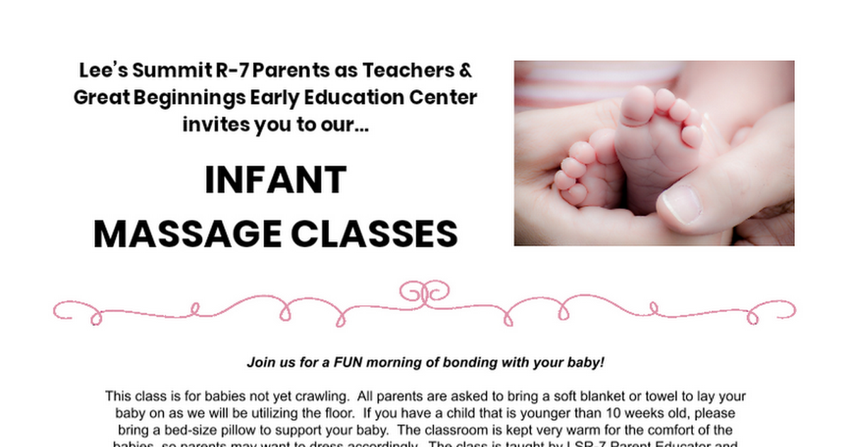 Infant Massage 2/12/20